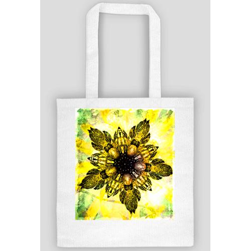salma Barokowy złoty kwiat ekotorba