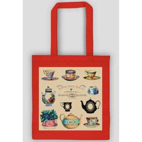 mrsrose Ekologiczna torba - filiżanki vintage, retro, shabby chic