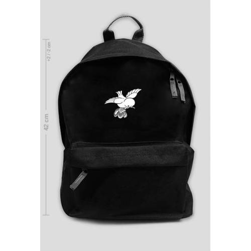 Back-to-school Duży plecak szkolny ptak