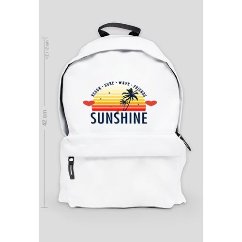 Fajneciuchyy Biały plecak z ciepłymi barwami