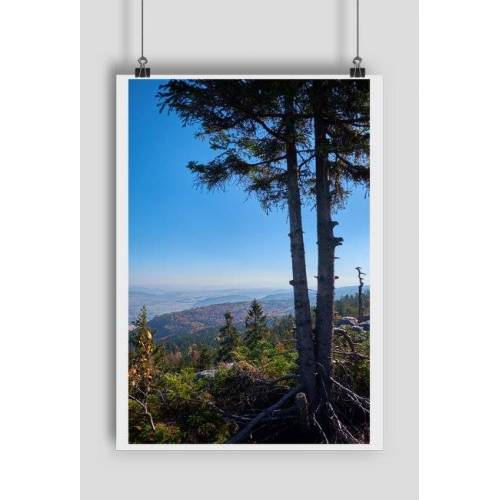 magicznefoto Plakat szczeliniec widok na góry