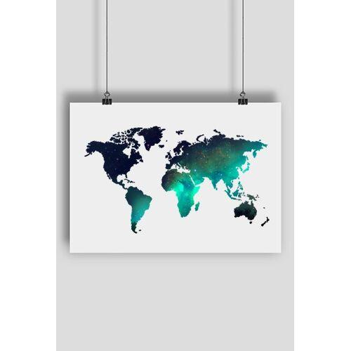 elliotta Mapa świata gwiazdy plakat