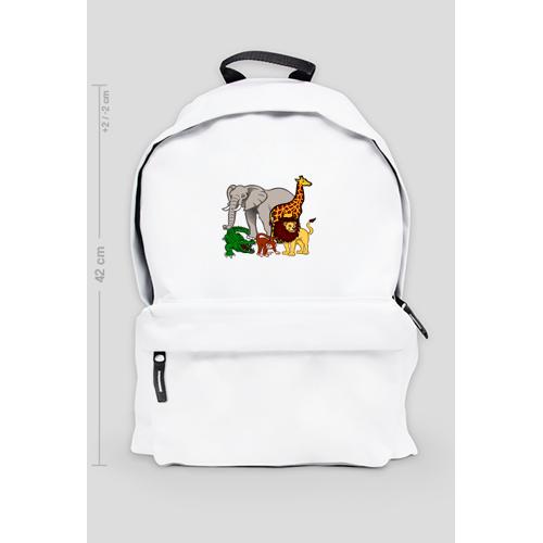 Back-to-school Duży plecak szkolny zoo