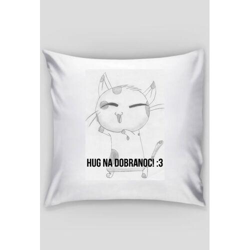 DorianStore Poduszka (biała) [my art] - [cat: hug na dobranoc! :3]