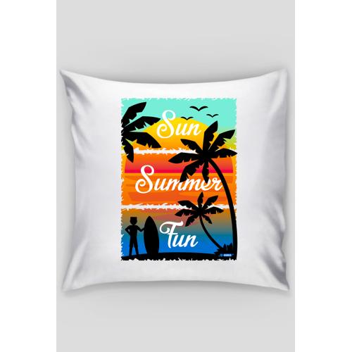 dudle Sun summer fun - poszewka dekoracyjna na poduszkę jaśka