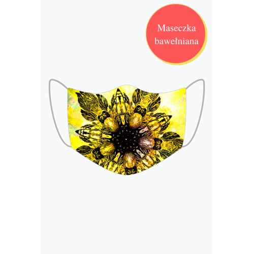 maseczkiMS Barokowy złoty kwiat maseczka