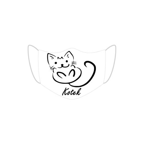 Pomysl-prezent Maseczka ochronna malowany kotek