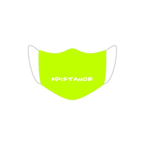 neons Maseczka kolorowa (neon lime) - #distance