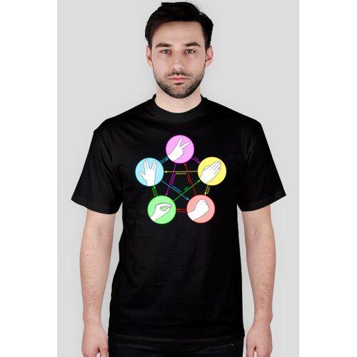 koszulki-filmowe Kamień nożyczki papier jaszczurka spock - big bang theory