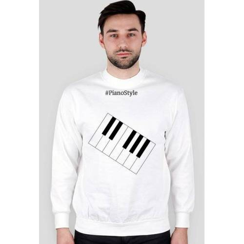 PianoStyle Bluza biała pianostyle