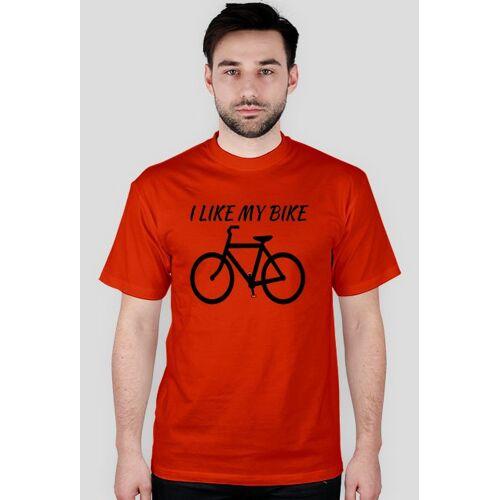 rowerowe I like my bike - koszulka dla mężczyzn