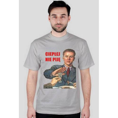 wsm-wear T-shirt ciepłej nie pije men's
