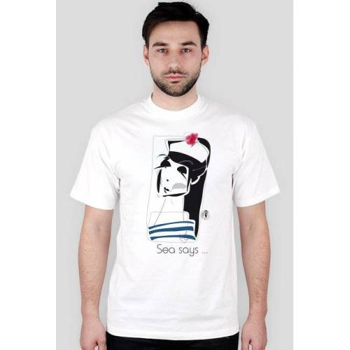 AWR_SEA_SAYS_1 Marek migdał koszulka