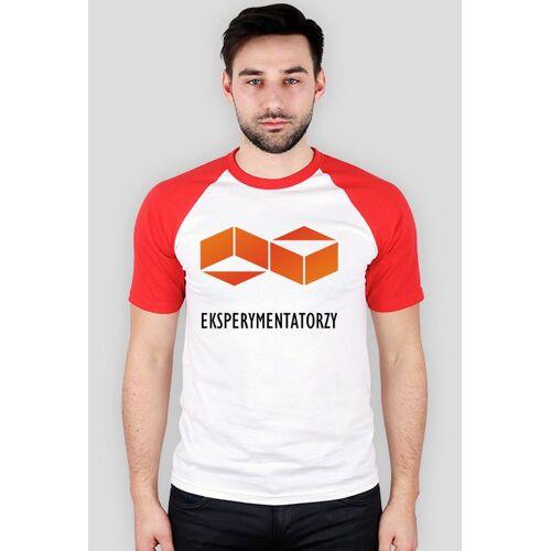 Eksperymentatorzy Grupy eksperymentatorzy - koszulka z czerwonymi rękawami