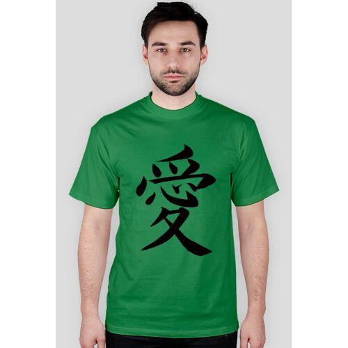 """japonskitshirt Japoński t-shirt """"miłość"""""""