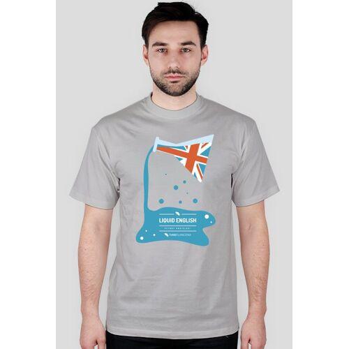turbotlumaczenia Liquid english (płynny angielski) - bardzo męska koszulka