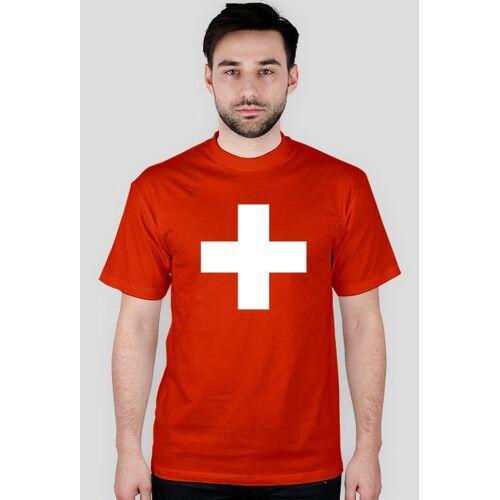 koszulka-flaga Koszulka z flagą szwajcarii