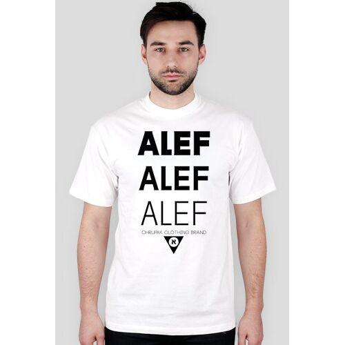 chrupak Nowość! koszulka z alefami - biała