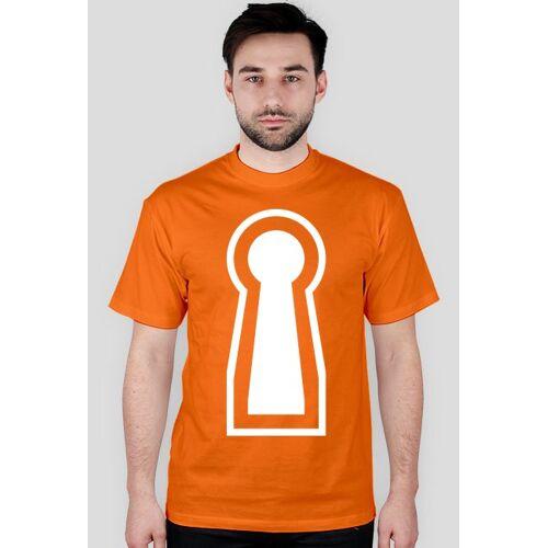 czarno-bialy Dziurka od klucza, koszulka