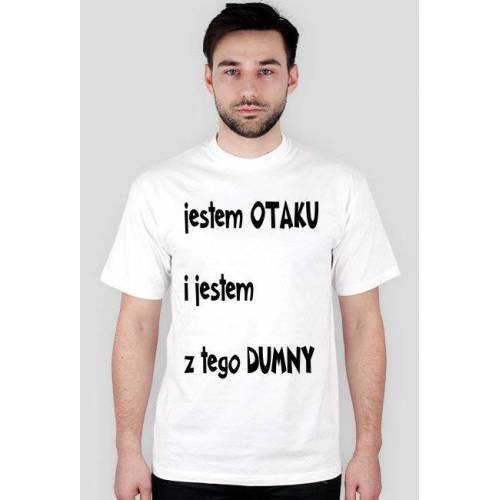 rusek Koszulka prawdziwego otaku biała