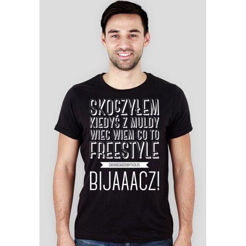 SnowboardowyTata Koszulka męska (slim) - wiem co to freestyle (special)