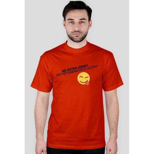 proudofmyself Nie jestem leniwy, jestem energooszczędny (t-shirt) ciemna grafika
