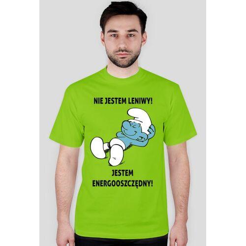 proudofmyself Energooszczędny (t-shirt) ciemna grafika
