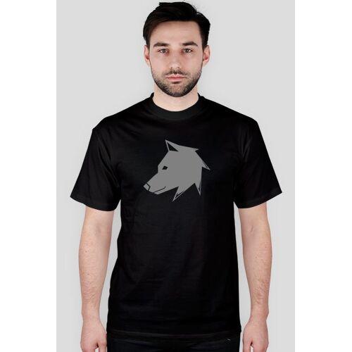 prawowilka Prawo wilka - logo szare - koszulka męska