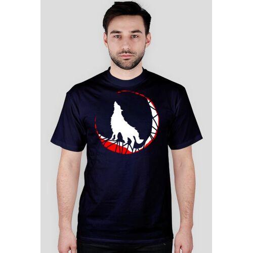 prawowilka Biały wilk - koszulka męska prawo wilka