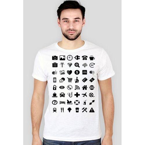 turystyczne Biała koszulka dla turystów