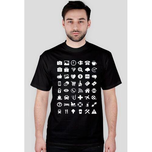 turystyczne Czarna koszulka dla turystów