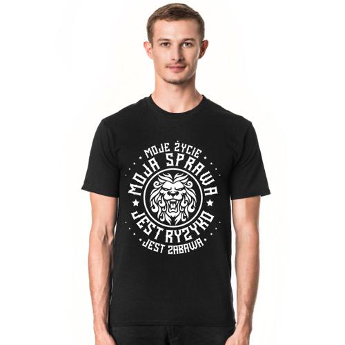 pimpim Koszulka męska moje życie moja sprawa czarna