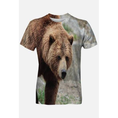 GucioSHOP Koszulka męska niedźwiedź brunatny