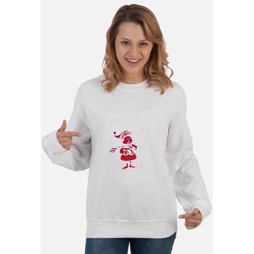 Pomysl-prezent Bałwan ciepła bluza