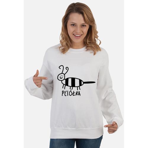 zwierzatka Pciółka - dla niej - biała bluza bez kaptura
