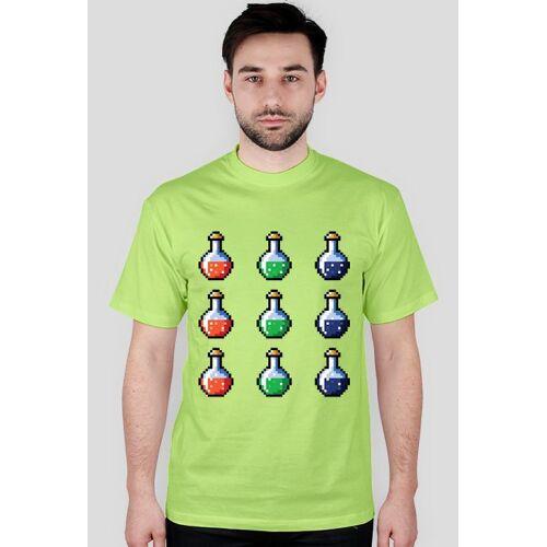 pixel-arts Pixel art  magiczne fiolki, t-shirt