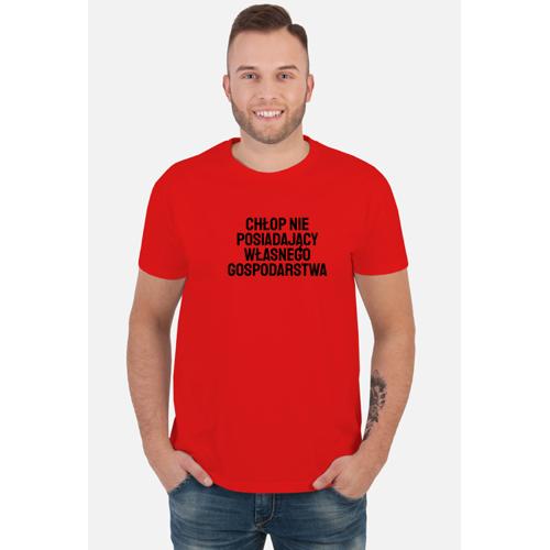 lachykachy Koszulka męska - chłop bez gospodarstwa