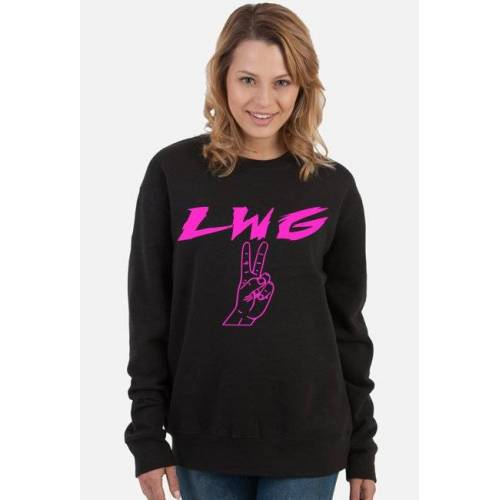 koszulkimotocykloweztekstem Bluza lwg lewa w górę - bluza na zlot motocyklowy 2019 2