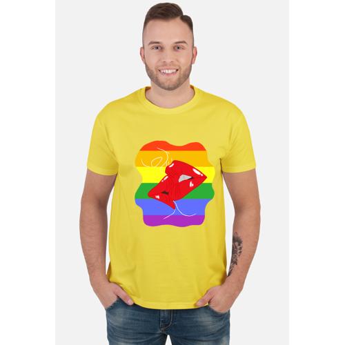 Pastelek_Shop Koszulka tęcza i pocałunek lgbt