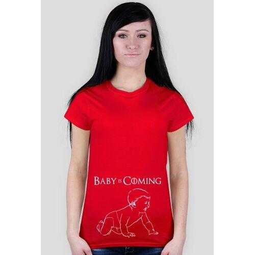 KoszulkaNaPrezent Koszulka dla kobiet w ciąży - baby is coming