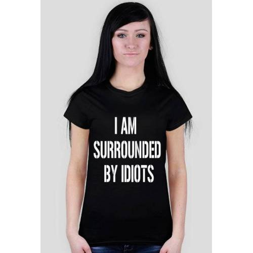 My-cool-T-shirt I am surrounded (black)