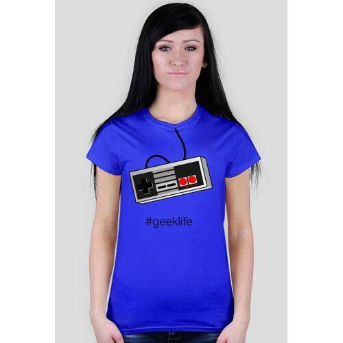 geeklife Nintendo geek - koszulka dla gracza - damska