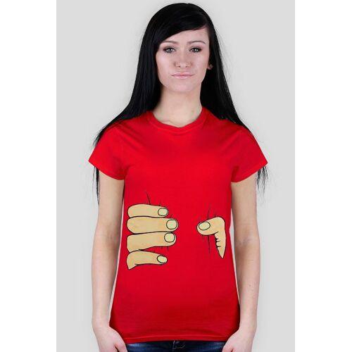 CiekawyT-shirt ściskająca dłoń