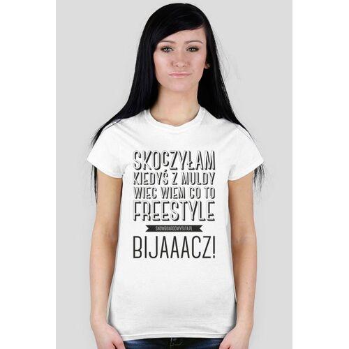 SnowboardowyTata Koszulka damska - wiem co to freestyle