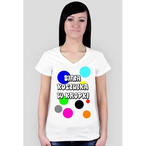 nicerola Biała koszulka w kropki