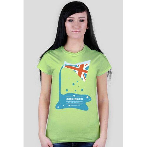turbotlumaczenia Liquid english (płynny angielski) - damska koszulka