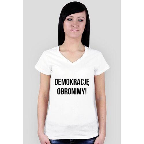 obronademokracji Demokrację obronimy - damska biała