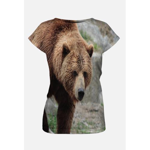 GucioSHOP Koszulka damska niedźwiedź brunatny