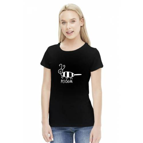 zwierzatka Pciółka - dla niej - czarna koszulka