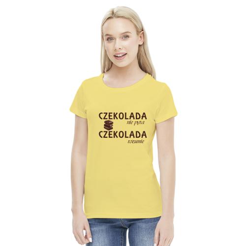 hodowcy Koszulka damska - czekolada nie pyta, czekolada rozumie
